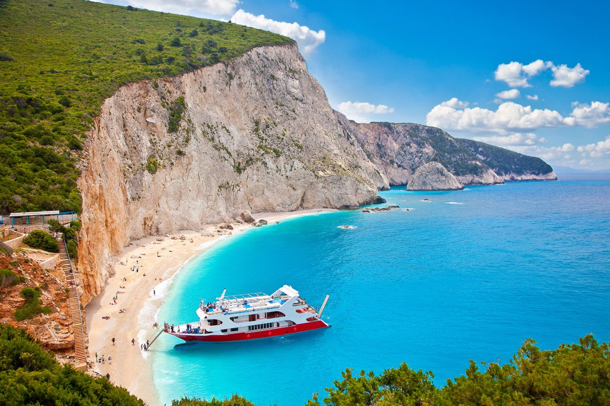 Greece-Katsiki-beach,-Lefkada