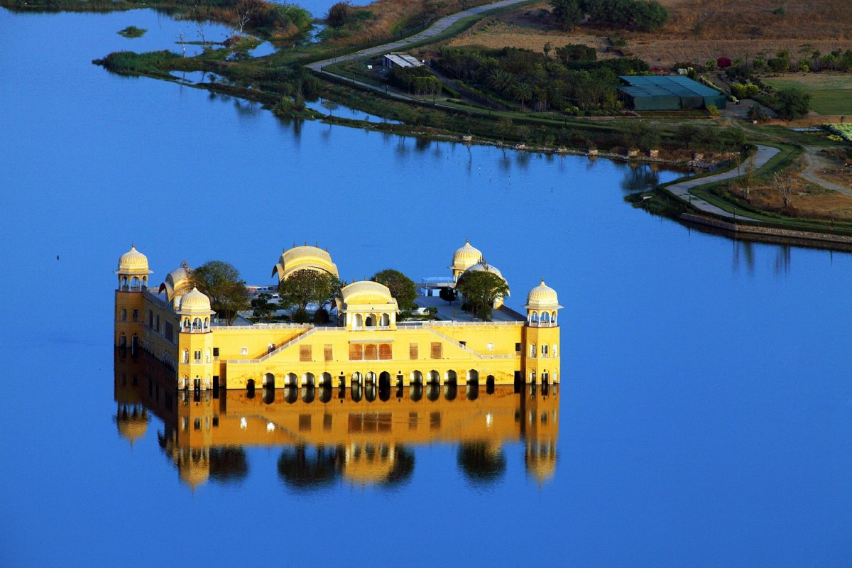 India-jaipur -Water Palace (Jal Mahal) in Man Sagar Lake