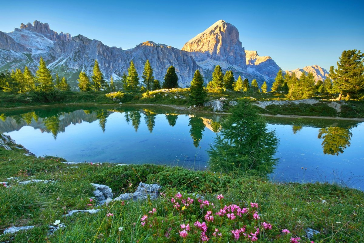 Italy - Limides Lake and Mount Lagazuoi, Dolomites